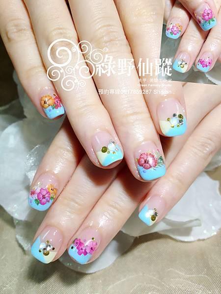 【光療指甲】參加日本花火祭典的光療指甲