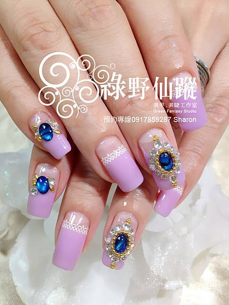 【光療指甲】低調華麗的新娘拍照款光療指甲