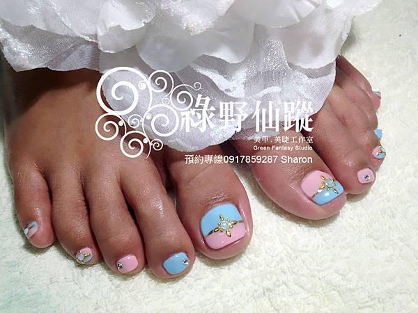 【足部光療指甲】馬卡龍雙色拼接