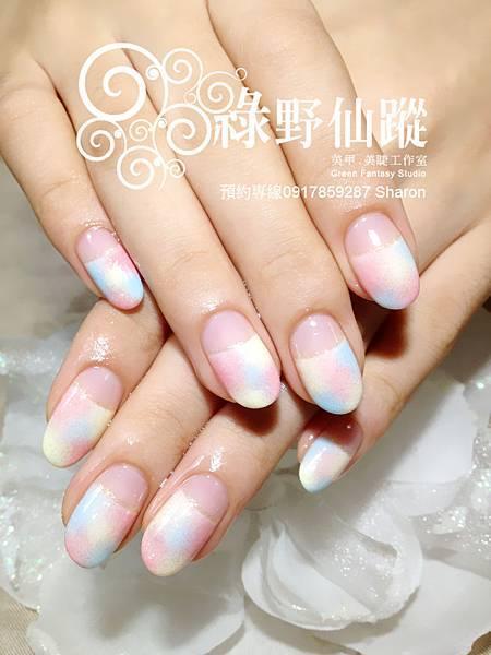 【光療指甲】力嘉的多色暈染光療指甲