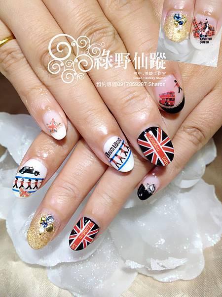 【光療指甲】2012倫敦奧運紀念款