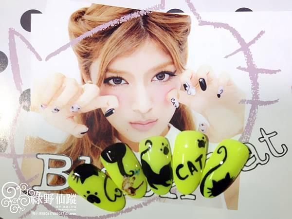 【光療指甲】日本雜誌款全手繪貓咪光療
