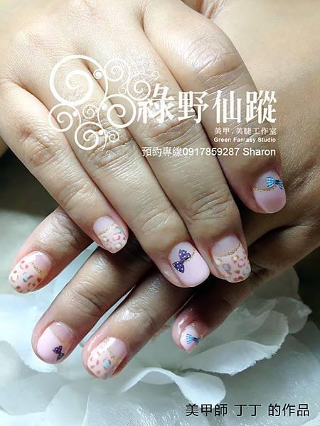 【光療指甲】馬卡龍豹紋光療