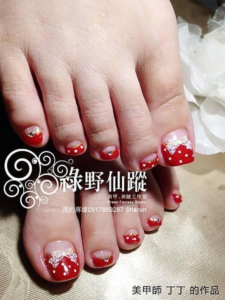 【足部光療指甲】日本可愛風雜誌款光療