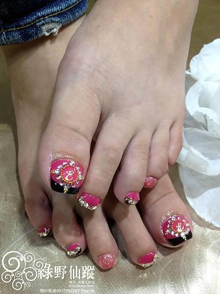 【足部光療指甲】秋冬雜誌改款黑法式光療指甲