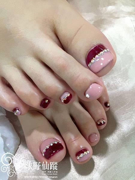 【光療指甲】足部雙色拼接專案款