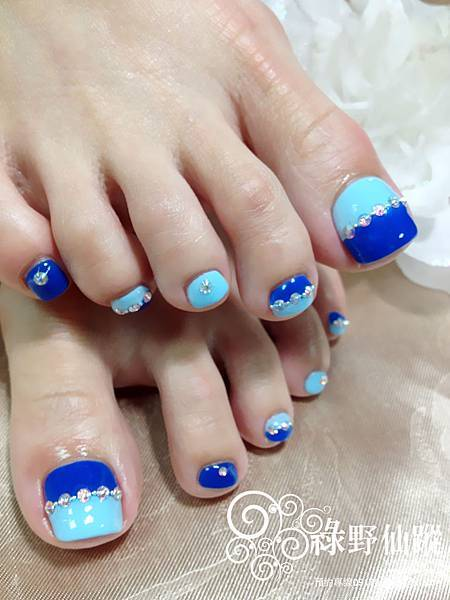 【光療指甲】10月美足專案雙色拼接光療美甲