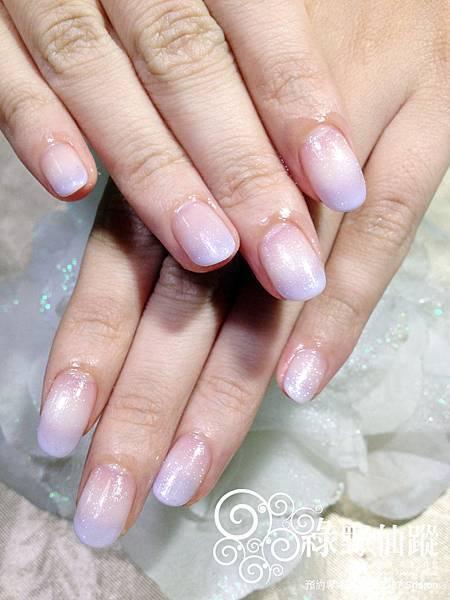 【光療指甲】藕紫色漸層光療美甲