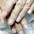 【光療指甲】珍珠粉橘色漸層光療美甲