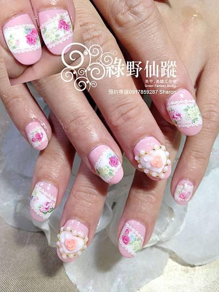 【光療指甲】新娘美甲幸福花園設計款
