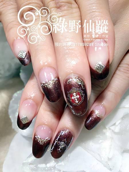 【光療指甲】秋冬款皇室氣息光療美甲