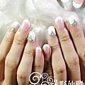 【光療指甲】新娘的法式光療美甲設計款