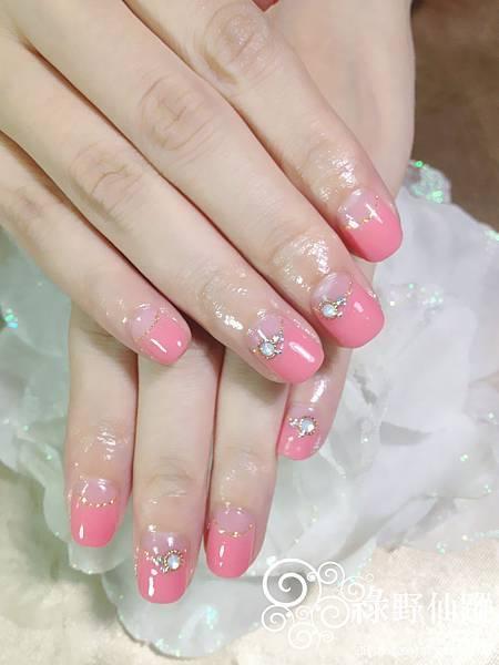 【光療指甲】新娘款反法式幸福美甲