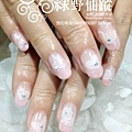 【光療指甲】新娘美甲漸層色光療