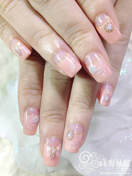 【光療指甲】新娘甲反法式小公主風