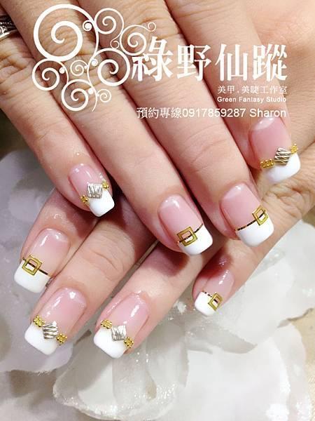 【光療指甲】個性新娘款光療美甲