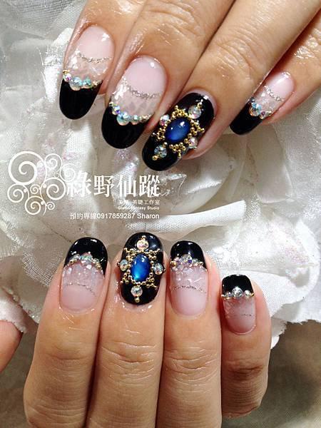 【光療指甲】奢華雙法式及貝殼夾心光療美甲