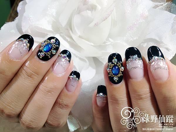 【光療指甲】奢華雙法式及貝殼夾心光療美甲-2