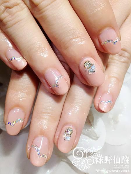 【光療指甲】氣質典雅的伴娘款光療美甲