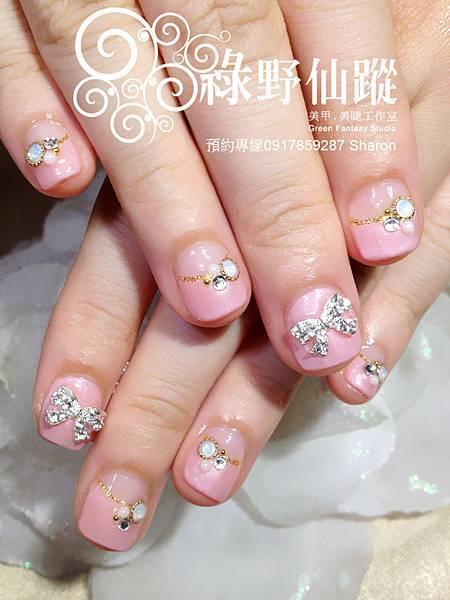 【光療指甲】可愛短指甲新娘款光療美甲
