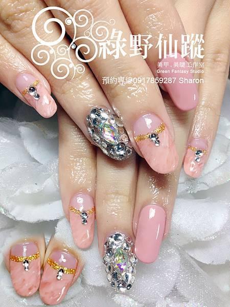 【光療指甲】日本雜誌改款大理石紋光療美甲