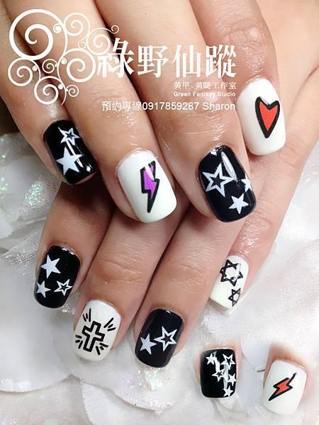 【光療指甲】個性塗鴉款光療美甲