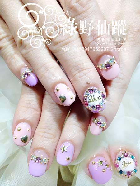 【光療指甲】春天的可愛華麗風格光療美甲
