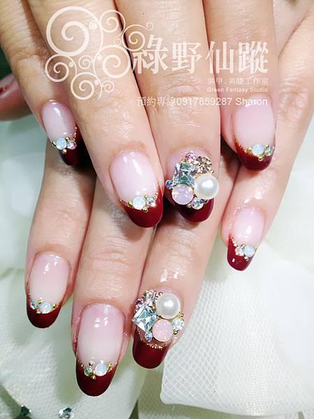 【光療指甲】丁丁訂婚款光療美甲