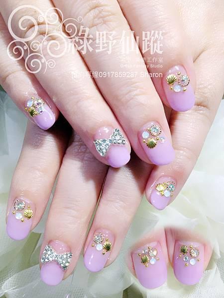 【光療指甲】Calgel紫羅蘭色漸層光療美甲