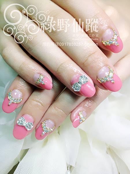 【光療指甲】甜蜜婚紗款光療美甲