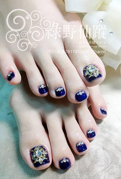 【足部光療指甲】精緻華麗足部光療美甲