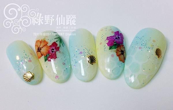 【光療指甲】熱帶海洋風光療美甲