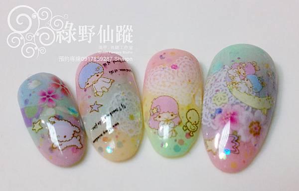 【光療指甲】多色暈染可愛的KIKI LALA光療美甲