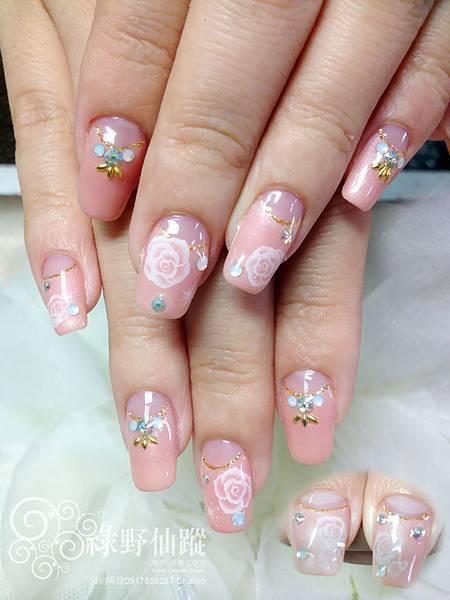 【光療指甲】氣質結婚款式光療美甲