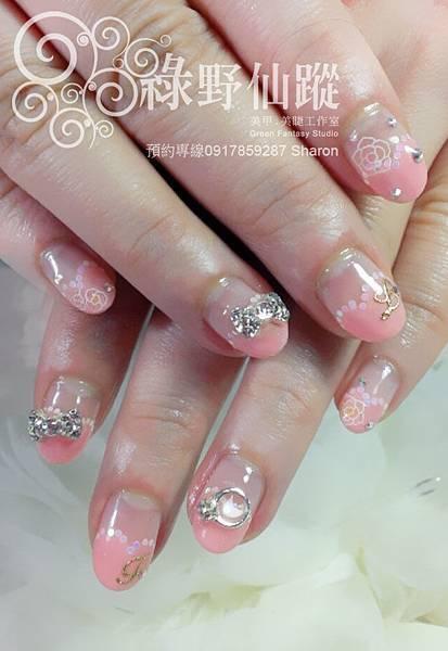 【光療指甲】五月可愛新娘款心型法式光療美甲
