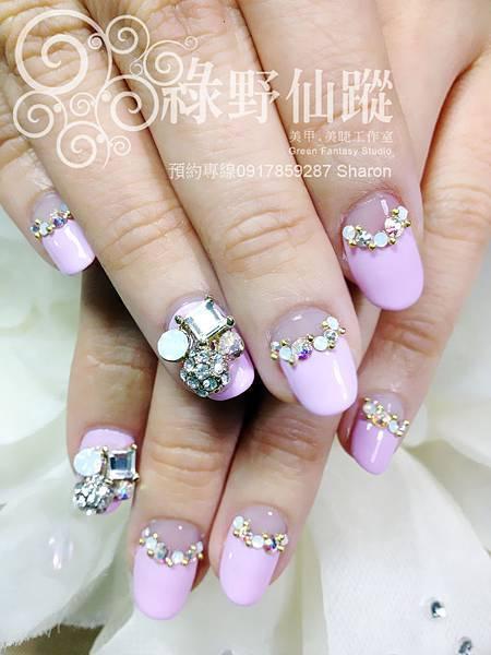 【光療指甲】五月新娘奢華款光療美甲