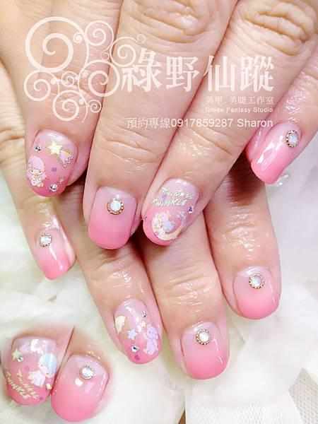 【光療指甲】可愛KIKILALA桃色漸層光療美甲