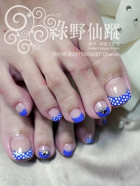 【足部光療指甲】法式設計款光療美甲