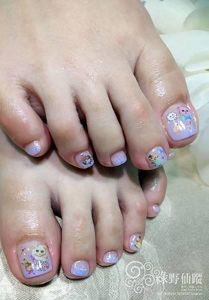 【足部光療指甲】漸層設計款光療美甲