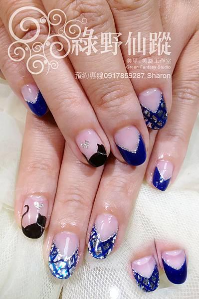 【光療指甲】秋冬未來感X黑貓光療美甲