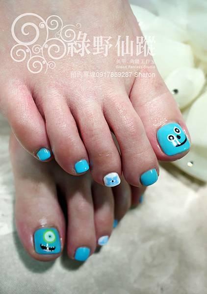 【足部光療指甲】怪獸電力公司足部光療美甲