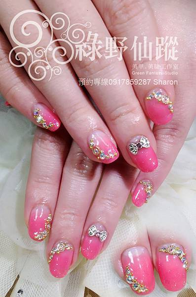 【光療指甲】適合新娘專用的單色漸層光療美甲
