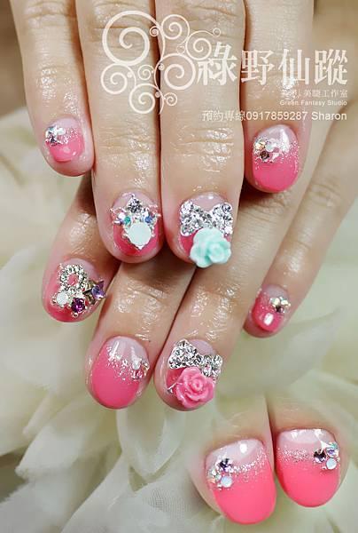 【光療指甲】華麗新娘款光療美甲