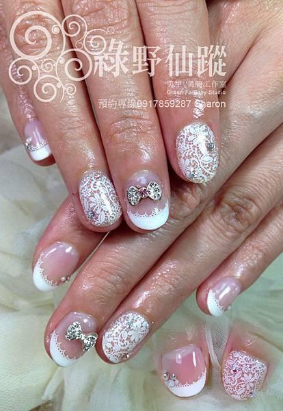 【光療指甲】韓風透膚蕾絲款光療美甲