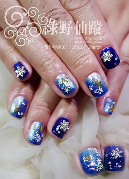 【光療指甲】冬季戀歌銀白雪花款光療美甲