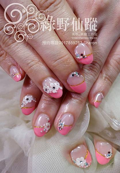 【光療指甲】甜美新娘款款光療美甲