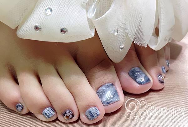 【足部光療指甲】個性大理石紋光療美甲