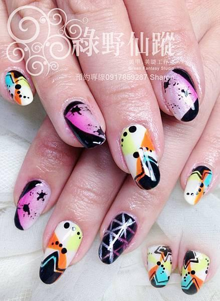 【光療指甲】2014年日本nail up二月號雜誌款光療美甲