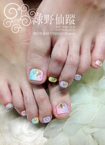 【足部光療指甲】棉花糖雙向漸層光療指甲