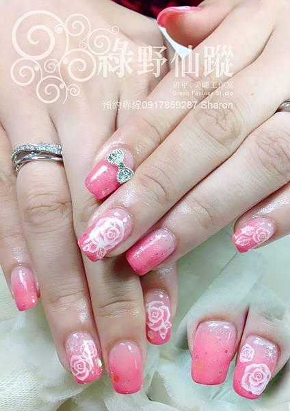 【光療指甲】優雅單色漸層光療指甲